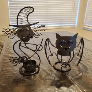 Witch and Bat Candle Holders 🧙♀️🦇